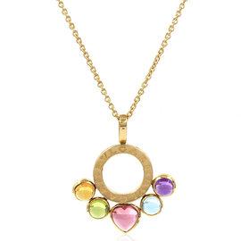 Bulgari Allegra 18K Yellow Gold Multi-Color Gemstone Necklace