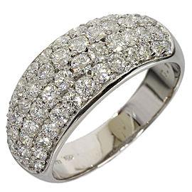 Picchiotti 18K White Gold 1.57ct Diamond Band Ring Size 8.25