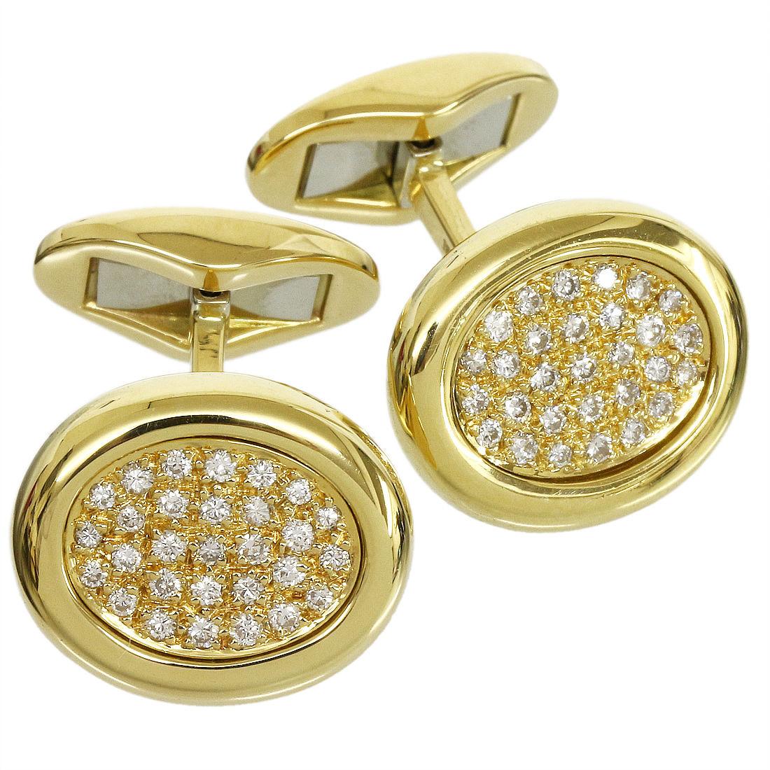 "Image of ""Piaget 18K Yellow Gold Diamonds Cufflinks"""