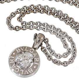 Bulgari 18K White Gold Diamond Chain Necklace