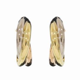 Cartier Trinity de Cartier 18K Yellow, White & Rose Gold Earrings