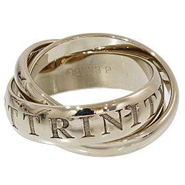 Cartier Trinity de Cartier 18K White Gold Bands Ring Size 5.25