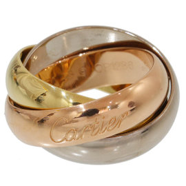 Cartier Trinity de Cartier 18K Rose, White and Yellow Gold Ring Size 5.25