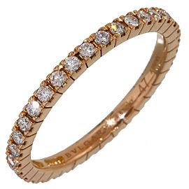 Bulgari 18K Rose Gold with Diamond Eternity Ring Size 4.25