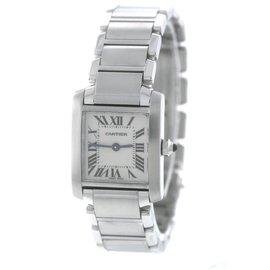 Cartier Tank Francaise W51008Q3 / 2384 Stainless Steel Quartz 20.25mm Womens Watch