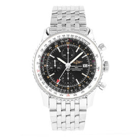 Breitling Navitimer World Time A24322 Stainless Steel Automatic 45mm Mens Watch