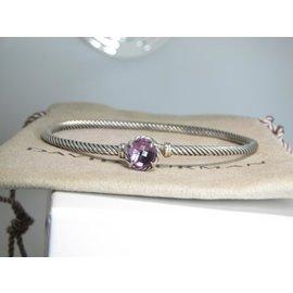 David Yurman Chatelaine 925 Sterling Silver with Amethyst Bracelet