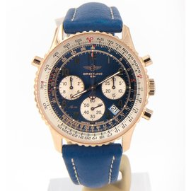 Breitling Navitimer H34030 18K Rose Gold Automatic 38mm Mens Watch