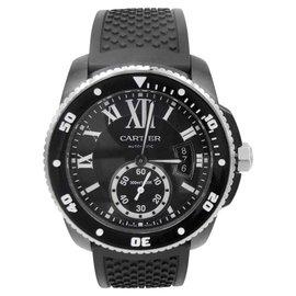 Cartier Calibre De Cartier WSCA0006 ADLC Coated Stainless Steel Automatic 42mm Mens Watch