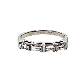 Platinum Diamond Band Ring Size 6.5