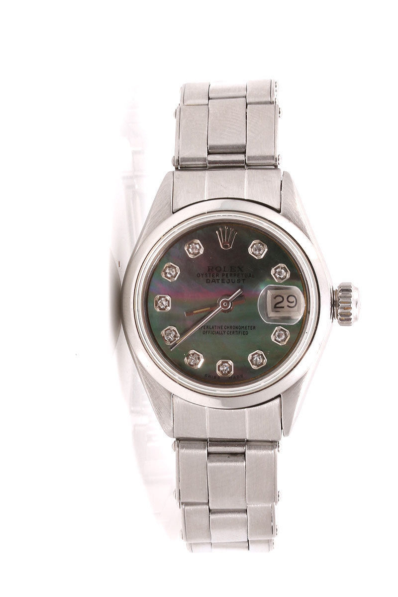 "Image of ""Rolex Datejust Stainless Steel Oyster Band Tahitian Diamond Dial 26mm"""