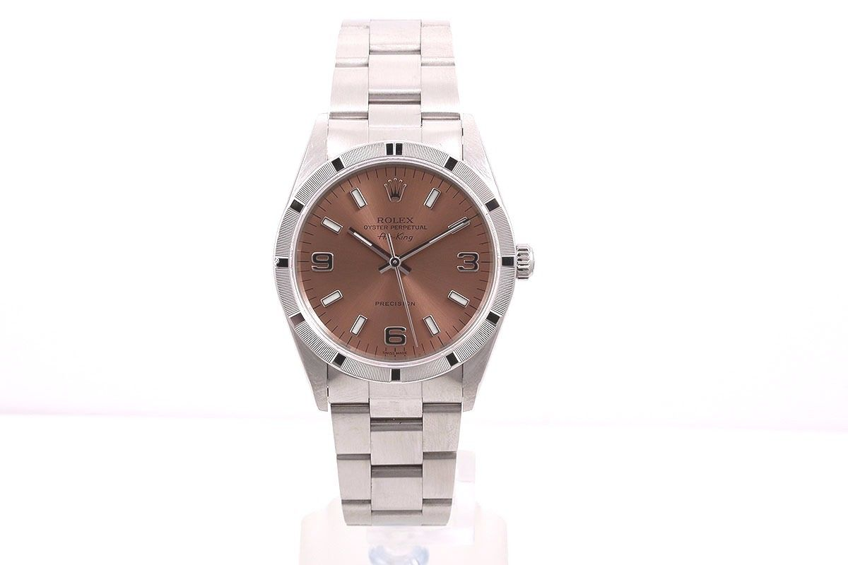 """Image of """"Rolex Air-King 14000 Stainless Steel Rose Dial 34mm Watch"""""""