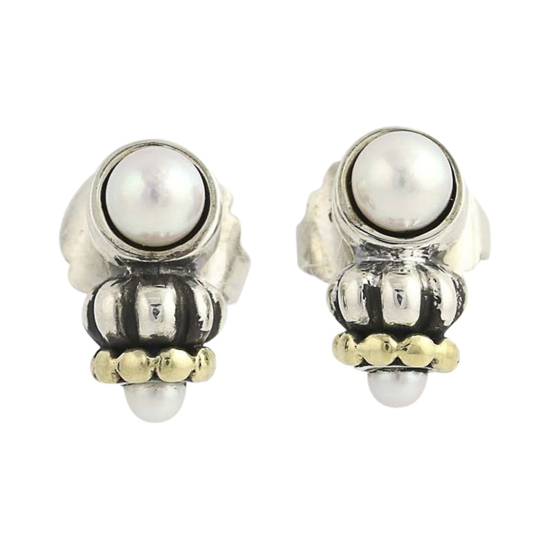 "Image of ""Lagos 925 Sterling Silver & 18K Yellow Gold Caviar Cultured Pearl"""