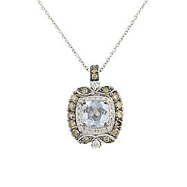 Le Vian 14K White Gold Aquamarine & Diamond Pendant Necklace