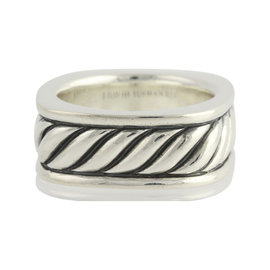 David Yurman 925 Sterling Silver Sculpted Cable Ring Size 8