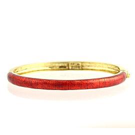 Hidalgo 18K Yellow Gold and Enameled Bangle Bracelet