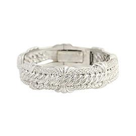 Judith Ripka 18K White Gold 0.48ctw Diamond Cuff Bracelet