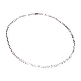 Hermes 925 Sterling Silver Serie Selye Pendant Necklace