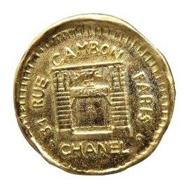 Chanel Gold-Tone 31 Rue Cambon Pin Brooch