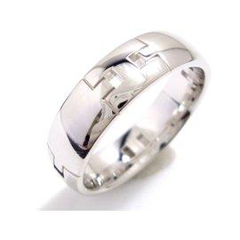 Hermes 18K White Gold Hercules Ring Size 7.75