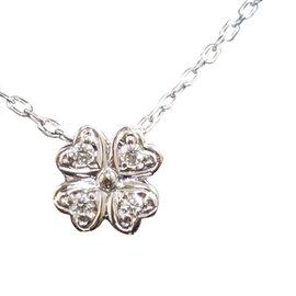 Mikimoto 18K White Gold 0.07ct. Diamond Pendant Necklace