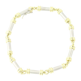 Scott Kay Platinum & 18K Yellow Gold Link Bracelet