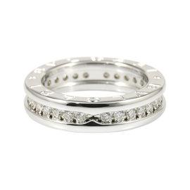 Bulgari B-Zero 1 950 Platinum & Diamond Ring Size 3.75