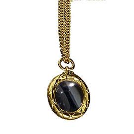 Chanel Coco Mark Gold-Tone Metal Coco Mark CC Logo Loupe Pendant Necklace