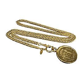Chanel Gold-Tone Metal 31 Rue Cambon Pendant Necklace