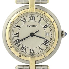Cartier Panthere Vendome 18K Yellow Gold & Stainless Steel Quartz 29.5mm Womens Watch