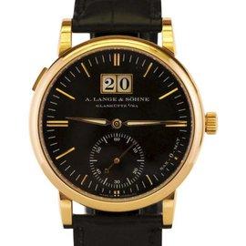 A. Lange & Sohne Sax-O-Mat 308.031 18K Rose Gold 37mm Mens Watch