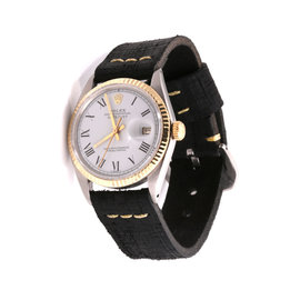 Rolex Datejust 18K Yellow Gold / Stainless Steel & Leather 36mm Mens Watch