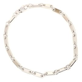 Cartier 18K White Gold Figaro Chain Bracelet
