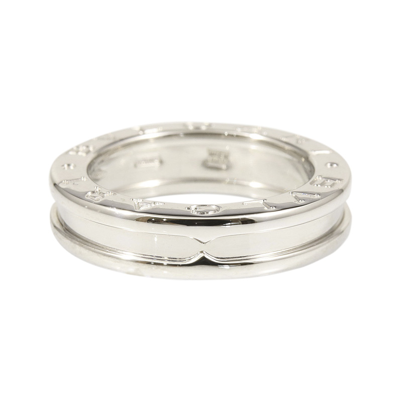 "Image of ""Bulgari 18K White Gold B-Zero 1 Band Ring Size 4.75"""