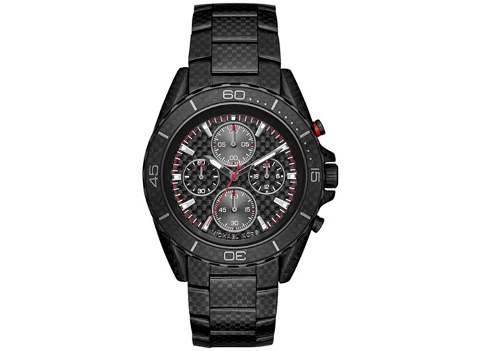 "Image of ""Michael Kors Chronograph JetMaster Carbon Fiber Stainless Steel"""