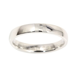 Hermes 18K White Gold Alliance Kelly Ring Size 5.25