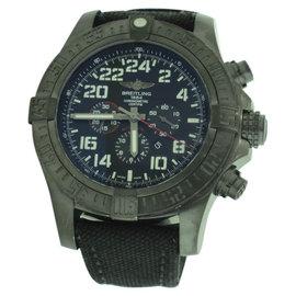 Breitling Super Avenger II M2233010 Black Stainless Steel 48mm Mens Watch