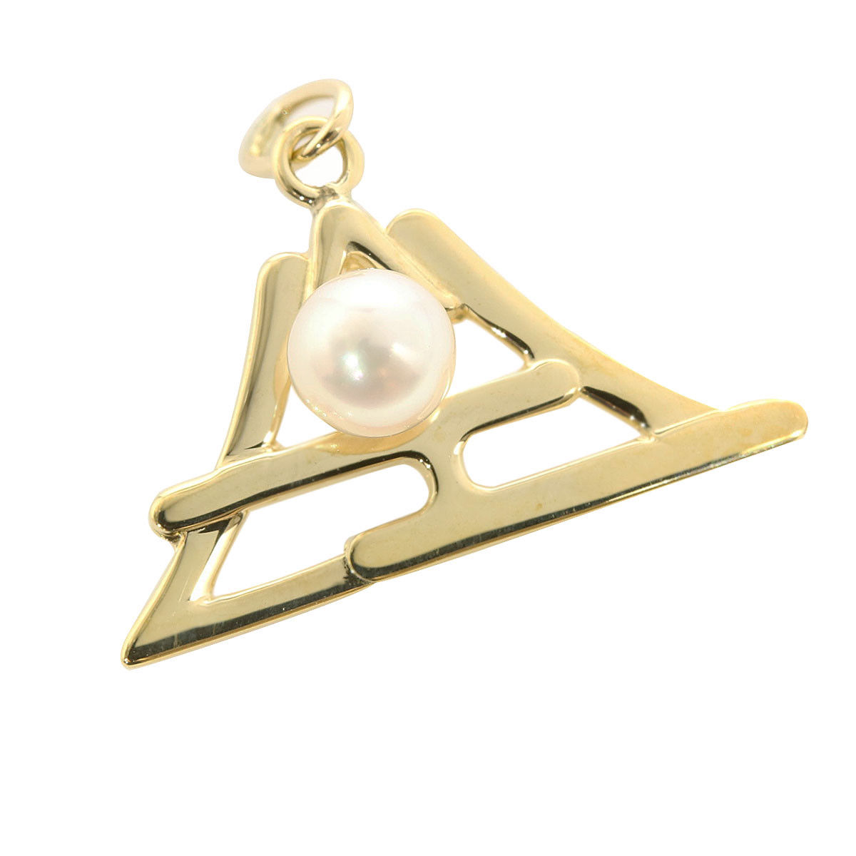 "Image of ""Mikimoto 14K Yellow Gold and Pearl Mt. Fuji Pendant"""