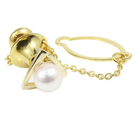 Mikimoto 18K Yellow Gold with Pearl Tiepin Tie Clasp