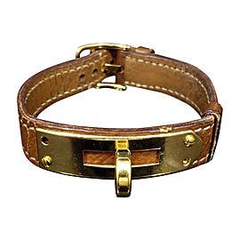 Hermes Kelly Gold Tone Hardware with Leather Bracelet