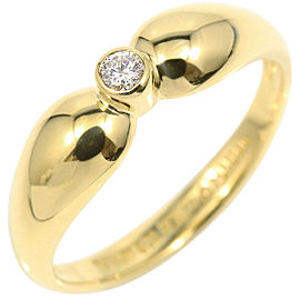 Tiffany & Co. 18K Yellow Gold & Diamond Ring Size 5.5