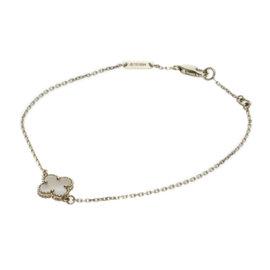 Van Cleef & Arpels 18K Yellow Gold Mother of Pearl Sweet Alhambra Bracelet