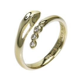 Tiffany & Co. 18K Yellow Gold & Diamond Snake Ring Size 4.25
