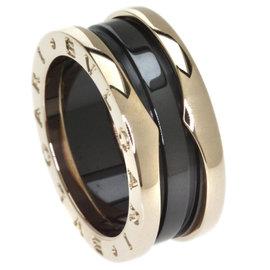 Bulgari B-Zero 18K Pink Gold & Ceramic Ring Size 5.25