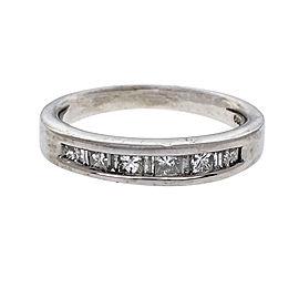 900 Platinum Diamond Band Ring Size 7