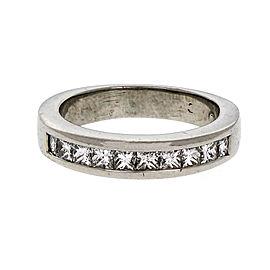 Platinum Channel Set Diamond Band Ring Size 4.5