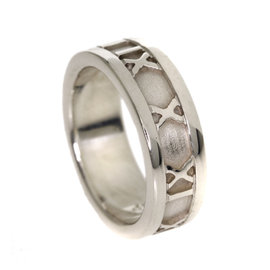 Tiffany & Co. Atlas 925 Sterling Silver Ring Size 4.75