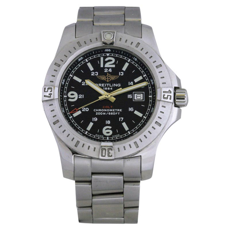 "Image of ""Breitling Colt A74388 Stainless Steel 44mm Mens Watch"""