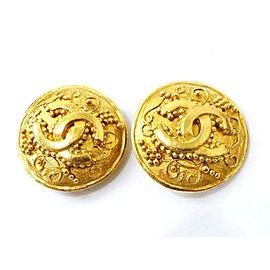 Chanel Gold Tone Hardware Coco Mark CC Logo Motif Earrings