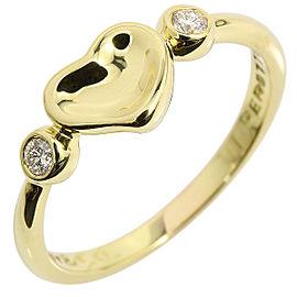 Tiffany & Co. 18K Yellow Gold & Diamond Heart Ring Size 5.5
